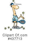 Royalty-Free (RF) Tennis Clipart Illustration #437713