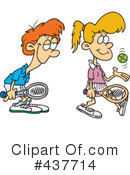 Royalty-Free (RF) Tennis Clipart Illustration #437714