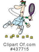 Royalty-Free (RF) Tennis Clipart Illustration #437715