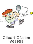 Royalty-Free (RF) Tennis Clipart Illustration #63958