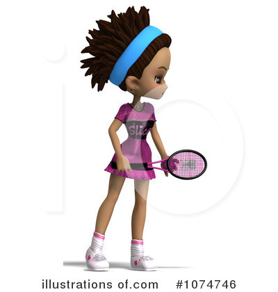 Tennis Girl Clipart #1074746 by Ralf61