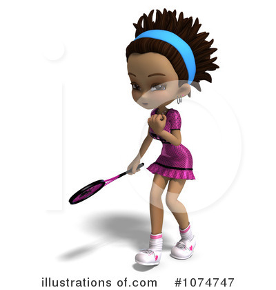 Tennis Girl Clipart #1074747 by Ralf61