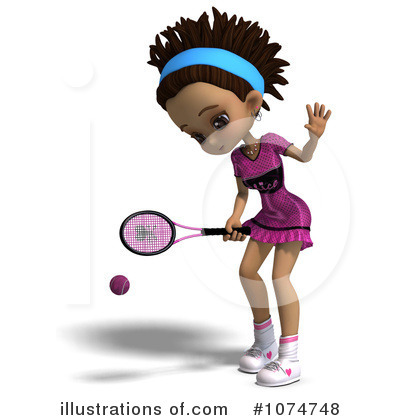 Tennis Girl Clipart #1074748 by Ralf61