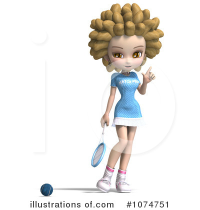 Tennis Girl Clipart #1074751 by Ralf61