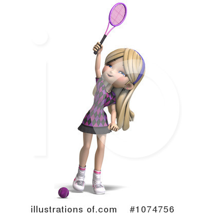 Tennis Girl Clipart #1074756 by Ralf61