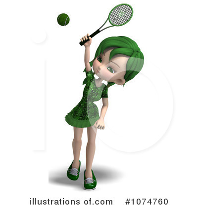 Tennis Girl Clipart #1074760 by Ralf61
