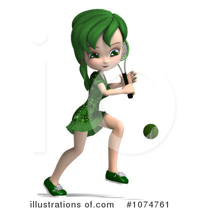 Tennis Girl Clipart #1074761 by Ralf61