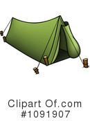 Royalty-Free (RF) Tent Clipart Illustration #1091907