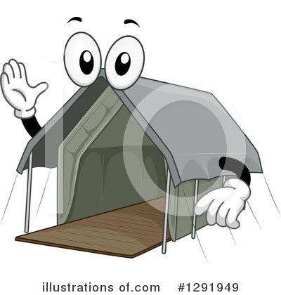 Royalty-Free (RF) Tent Clipart Illustration by BNP Design Studio - Stock Sample #1291949