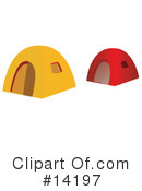 Royalty-Free (RF) tents Clipart Illustration #14197