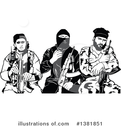 Royalty-Free (RF) Terrorist Clipart Illustration by dero - Stock Sample #1381851