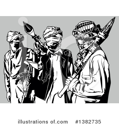 Royalty-Free (RF) Terrorist Clipart Illustration by dero - Stock Sample #1382735