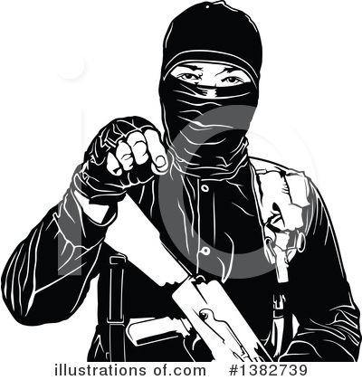 Royalty-Free (RF) Terrorist Clipart Illustration by dero - Stock Sample #1382739