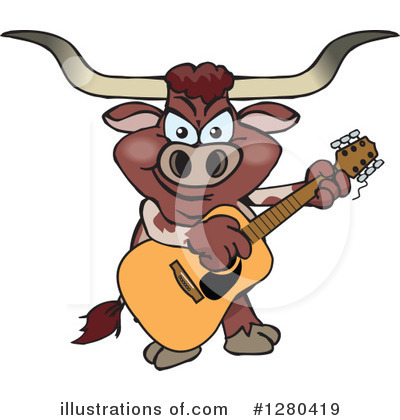 Bull Clipart #1280419 by Dennis Holmes Designs