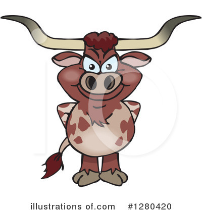 Cow Clipart #1280420 by Dennis Holmes Designs