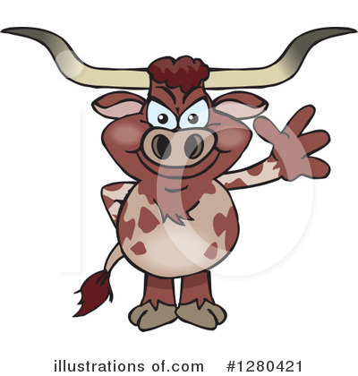 Bull Clipart #1280421 by Dennis Holmes Designs