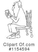 Texting Clipart #1154594 by djart
