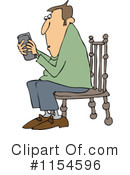 Royalty-Free (RF) texting Clipart Illustration #1154596