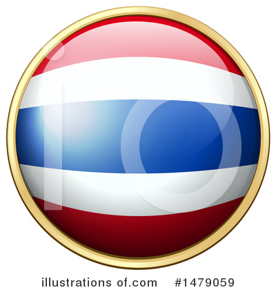Thai Flag Clipart #1479059 by Graphics RF