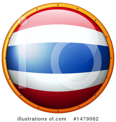 Thai Flag Clipart #1479062 by Graphics RF