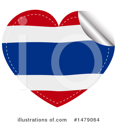 Thai Flag Clipart #1479064 by Graphics RF
