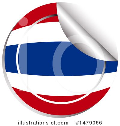 Thai Flag Clipart #1479066 by Graphics RF