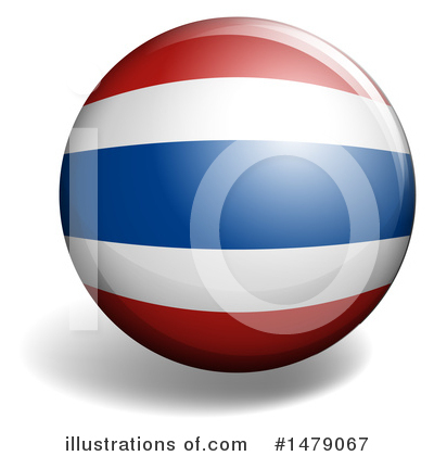 Thai Flag Clipart #1479067 by Graphics RF