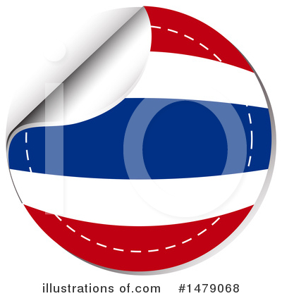 Thai Flag Clipart #1479068 by Graphics RF