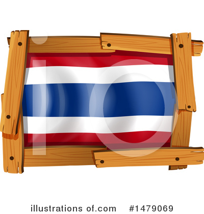 Thai Flag Clipart #1479069 by Graphics RF
