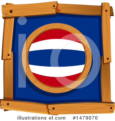 Thai Flag Clipart #1479070 by Graphics RF