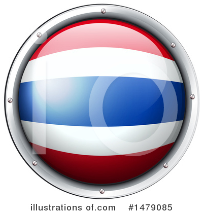 Thai Flag Clipart #1479085 by Graphics RF