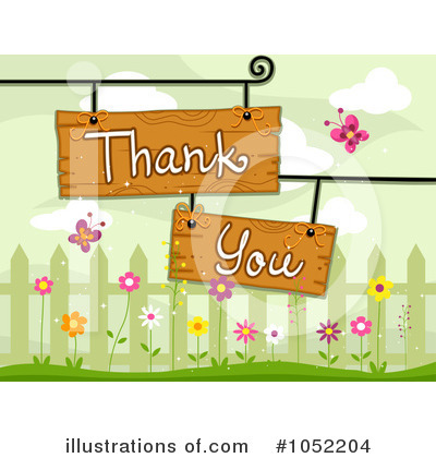 Royalty-Free (RF) Thank You Clipart Illustration by BNP Design Studio - Stock Sample #1052204