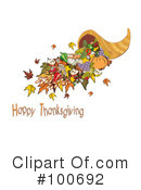 Royalty-Free (RF) Thanksgiving Clipart Illustration #100692
