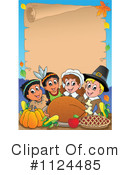 Royalty-Free (RF) Thanksgiving Clipart Illustration #1124485