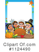 Royalty-Free (RF) Thanksgiving Clipart Illustration #1124490