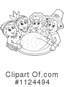 Royalty-Free (RF) Thanksgiving Clipart Illustration #1124494