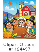 Royalty-Free (RF) Thanksgiving Clipart Illustration #1124497