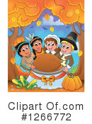 Royalty-Free (RF) Thanksgiving Clipart Illustration #1266772