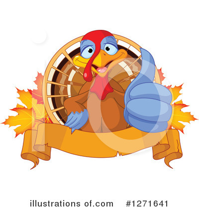 Thanksgiving Turkey Clipart #1271641 by Pushkin