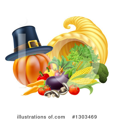 Royalty-Free (RF) Thanksgiving Clipart Illustration by AtStockIllustration - Stock Sample #1303469