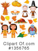 Royalty-Free (RF) Thanksgiving Clipart Illustration #1356765