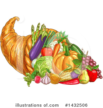 Royalty-Free (RF) Thanksgiving Clipart Illustration by Vector Tradition SM - Stock Sample #1432506