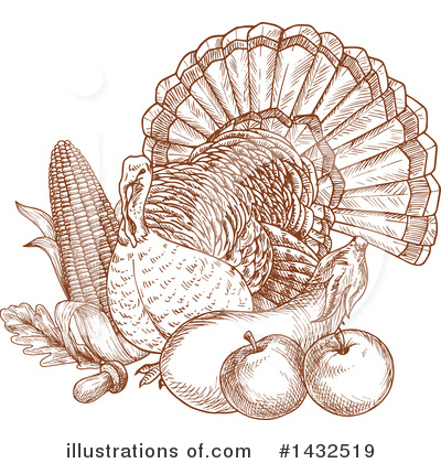 Thanksgiving Clipart #1432519 by Vector Tradition SM