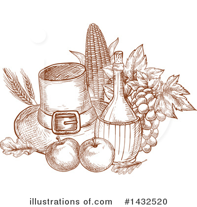 Thanksgiving Clipart #1432520 by Vector Tradition SM