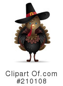 Royalty-Free (RF) Thanksgiving Clipart Illustration #210108