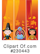 Royalty-Free (RF) Thanksgiving Clipart Illustration #230443