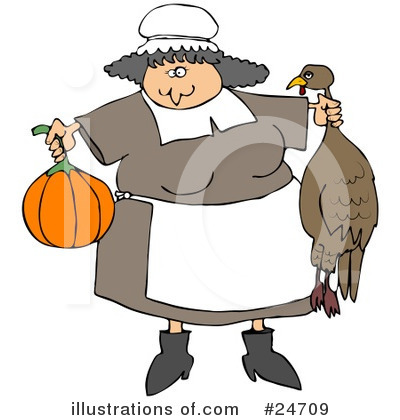 Royalty-Free (RF) Thanksgiving Clipart Illustration by djart - Stock Sample #24709