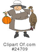 Royalty-Free (RF) Thanksgiving Clipart Illustration #24709
