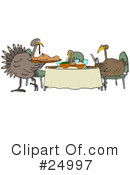 Royalty-Free (RF) Thanksgiving Clipart Illustration #24997