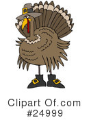 Royalty-Free (RF) Thanksgiving Clipart Illustration #24999